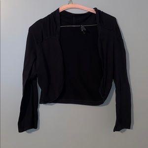Black open sweater! 👠